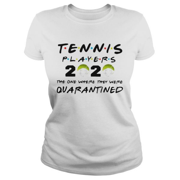 Tennis Players 2020 Face Mask The One Where They Were Quarantined  Classic Ladies