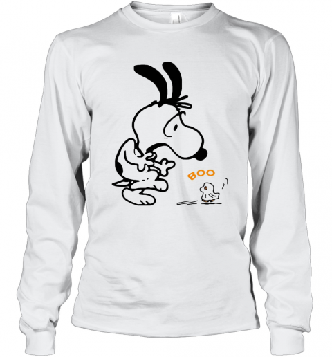 Snoopy And Woodstock Boo T-Shirt Long Sleeved T-shirt